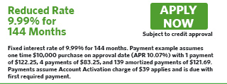 1449 - Reduced Rate 9.99% for 144 Months